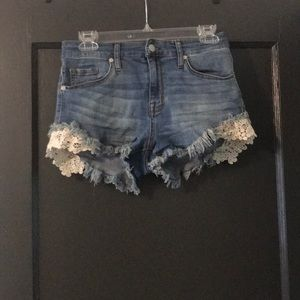 Missimo High Rise Super Stretch Shorts with Lace